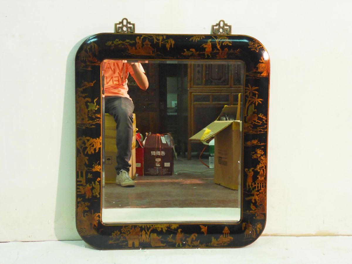 Specchio lacca nera china art - Specchio cornice nera ...